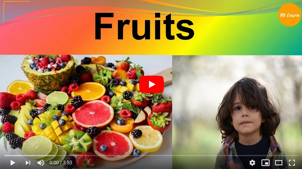 NTLearn - Kids Vocabulary Fruits